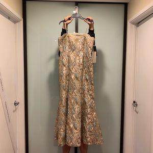 Aidan Mattox pink multi gown size 14